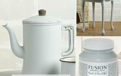 WHO DOESN'T LOVE A GORGEOUS GRAY? Update your brown furniture, with a pot of Fusion Mineral Paint's STERLING!